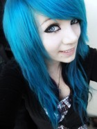 Modrý melír – modré vlasy