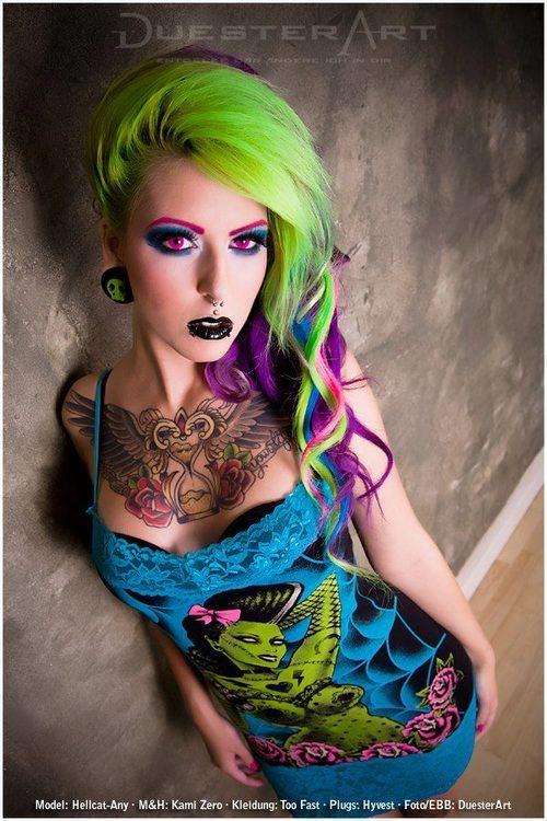 psychobilly hairstyles : Psychobilly Hairstyles For Women 1000+ images about gun on pinterest ...