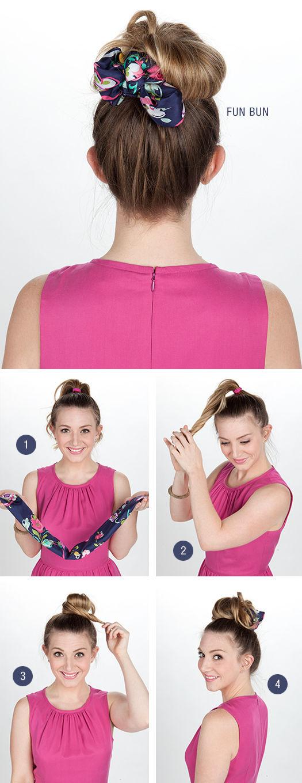spôsoby ako na šatku do vlasov