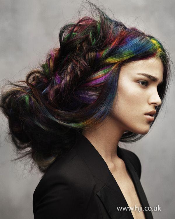 Farevné kriedy na vlasy.