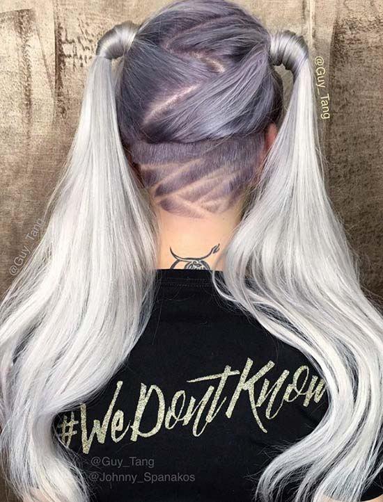 Dva culíky a tetování vlasové