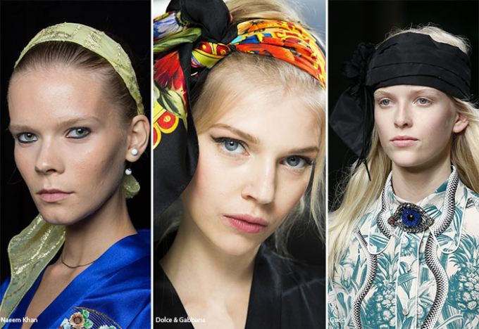 šatky do vlasov 2016