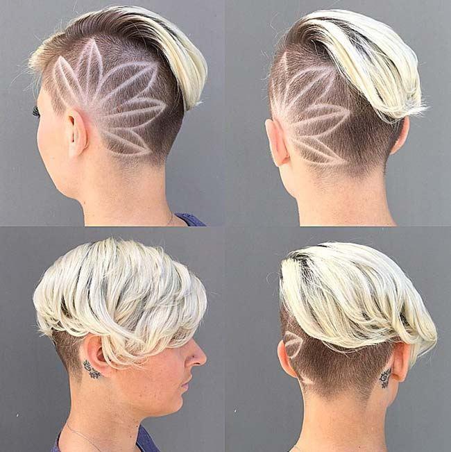květinové tetování vlasové dámské