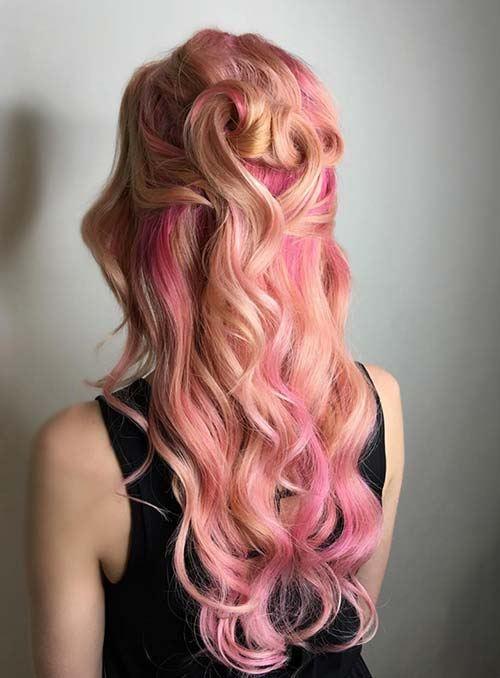 Korálovo ružové vlasy
