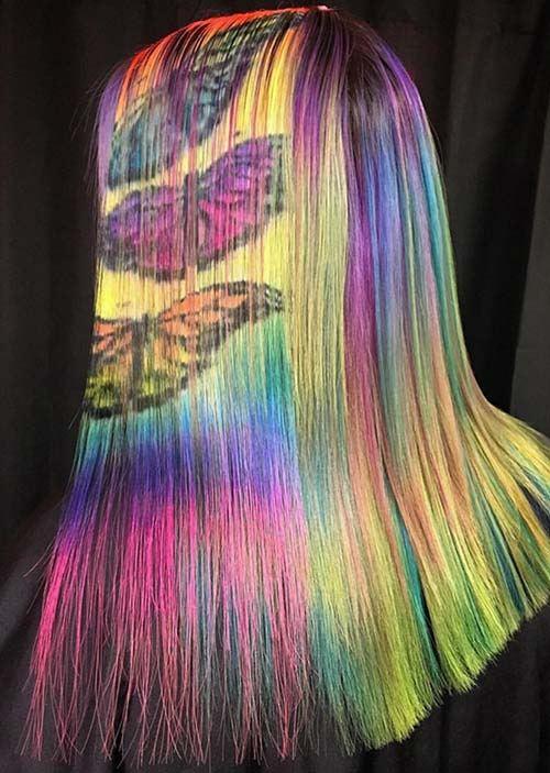 Obrazy motýľov na vlasoch