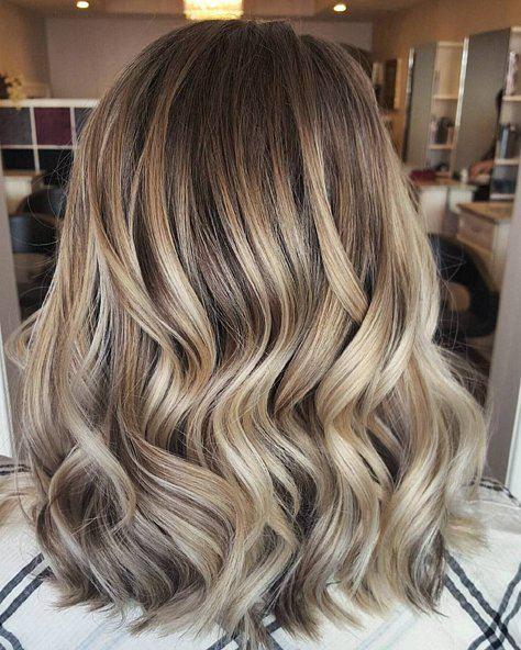 hnědé a blond vlasy účes