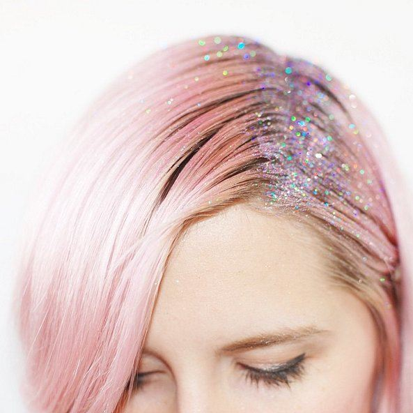 Glitter roots třpytky ve vlasech