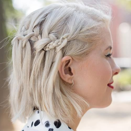 Účesy s vrkočmi pre krátke vlasy