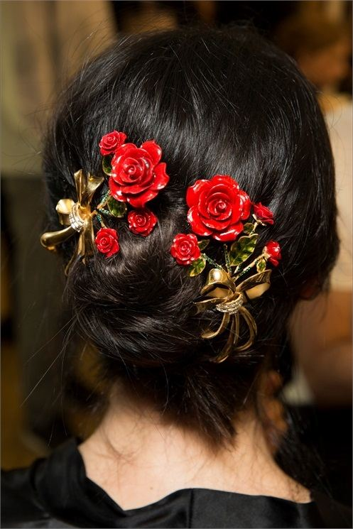 květy do vlasů