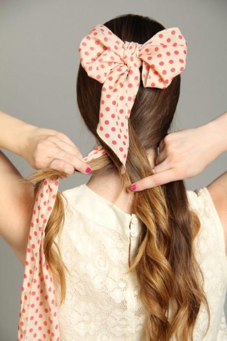 šátek do vlasů postup