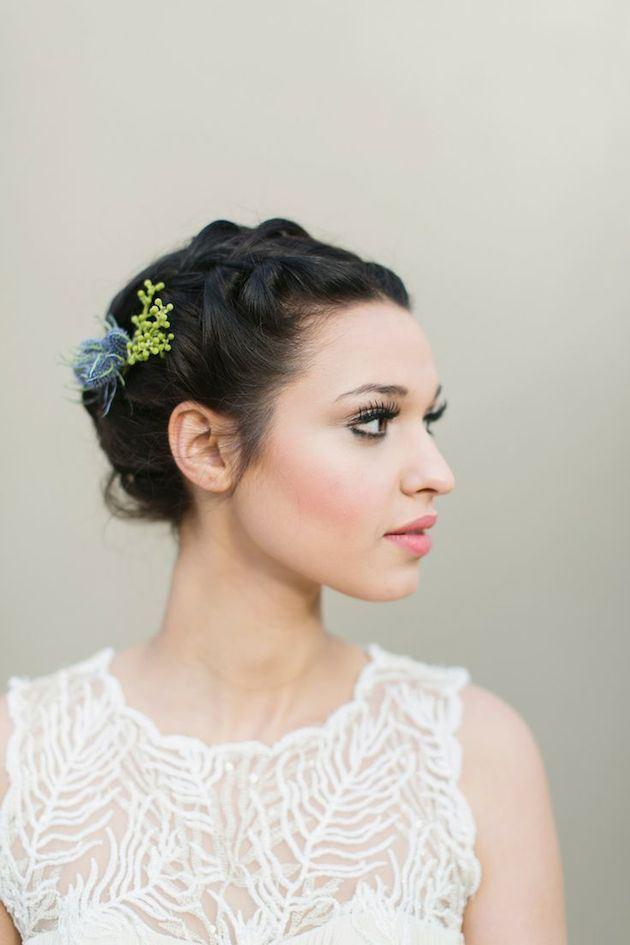 Svatební účes pro krátké vlasy