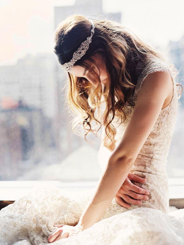 úzká čelenka pro nevěsty
