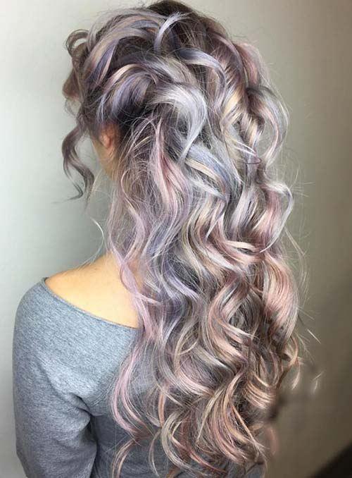 Vlasy farby levanduľa