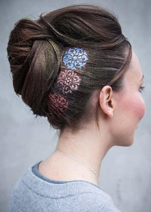 Vlasové tetovanie slnko