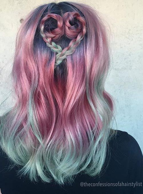 Ružové dúhové vlasy