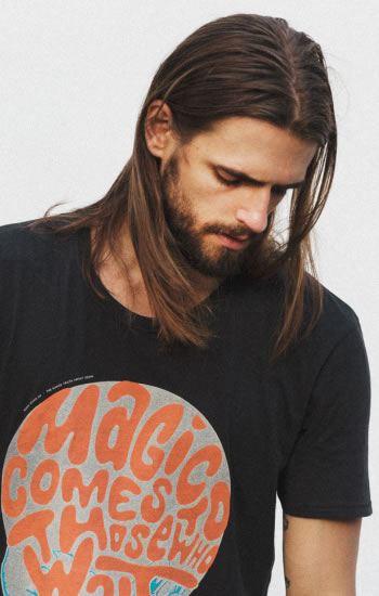 Rovné dlouhé vlasy muži 2016