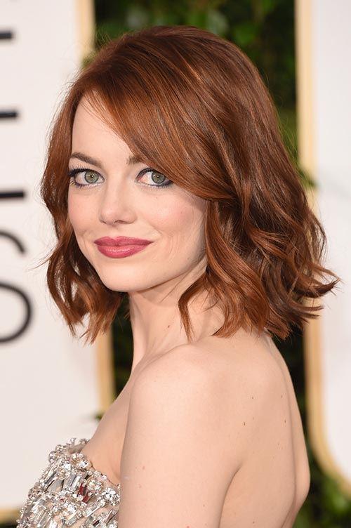 Ema Stone - měděná barva vlasů