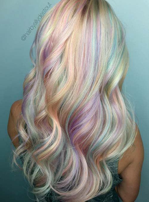 Pastelové dúhové farby