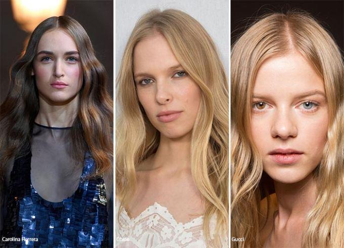 Vlnité vlasy 2016 účesy