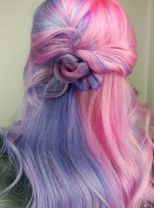 Vlasy dúhové farby