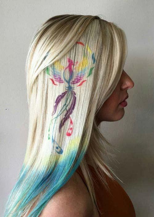 Vtáčie vlasové tetovanie