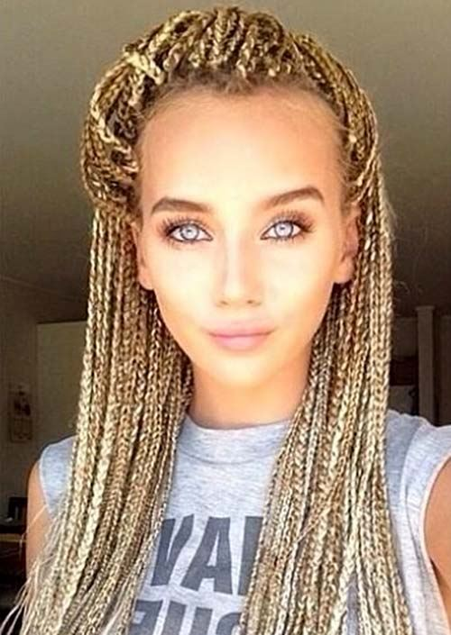 box braids zlaté