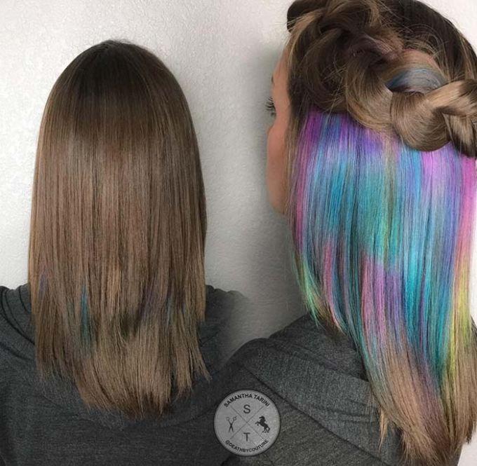 Dúhové barvy a prirodzené vlasy