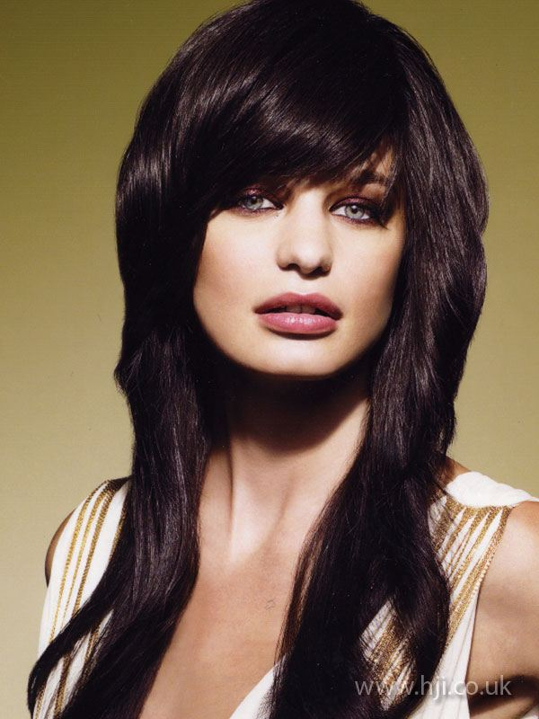 voluminous side swept fringe