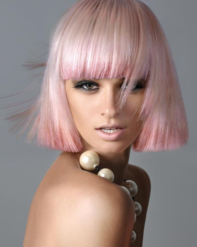 ružové vlasy farba foto