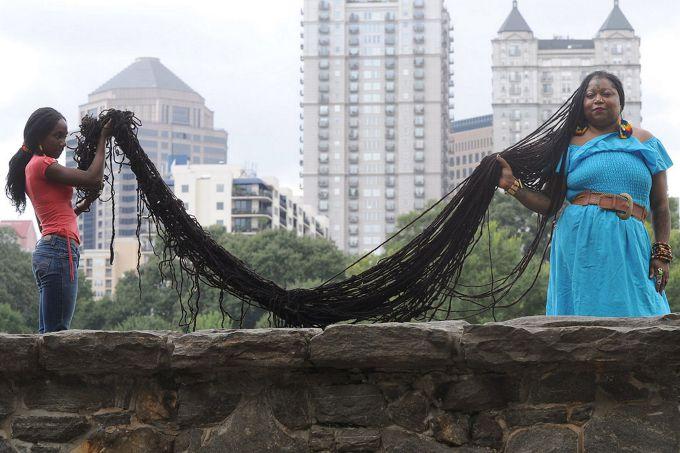 žena s najdlhšími vlasy na svete