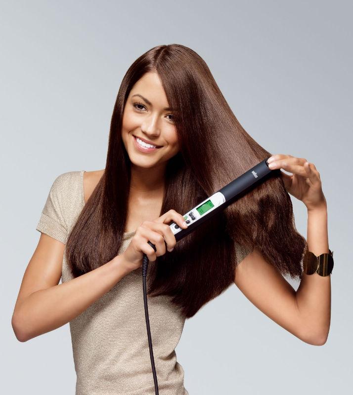 ochrana vlasů žehlení